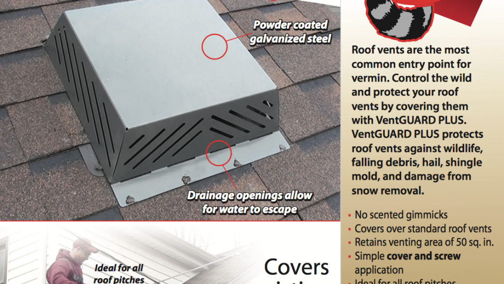 Extreme Wildlife Roof Protection | Roof Vents and Roof Vent Covers
