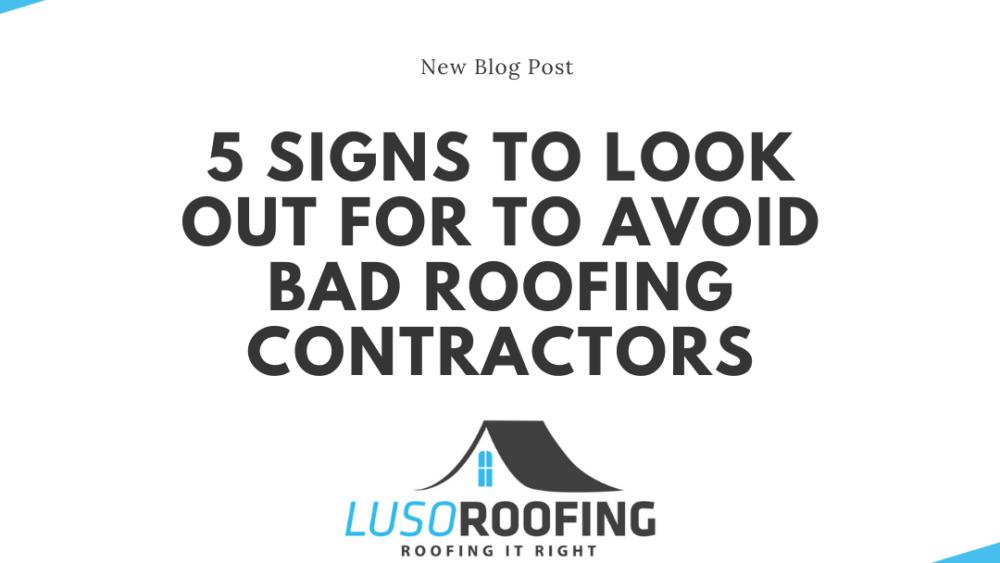 Bad Roofing Contractors